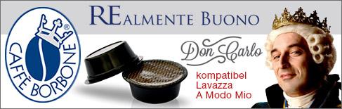 Kaffeekapseln caffè Borbone Don Carlo kompatibel mit Kaffeemaschinen A Modo Mio