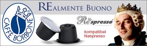 Kaffeekapseln Respresso caffè Borbone kompatibel mit Nespresso Kaffeemaschinen