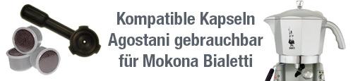 Kompatible Kapseln Agostani gebrauchbar fur Mokona Bialetti