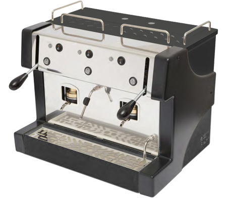 Macchina caffè Gea Bar per sistema cialde filtrocarta 44mm ESE ideale per per chioschi e piccoli ristoranti