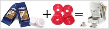 Doppledosis Adapter für Lavazza Einzeldosis Maschine